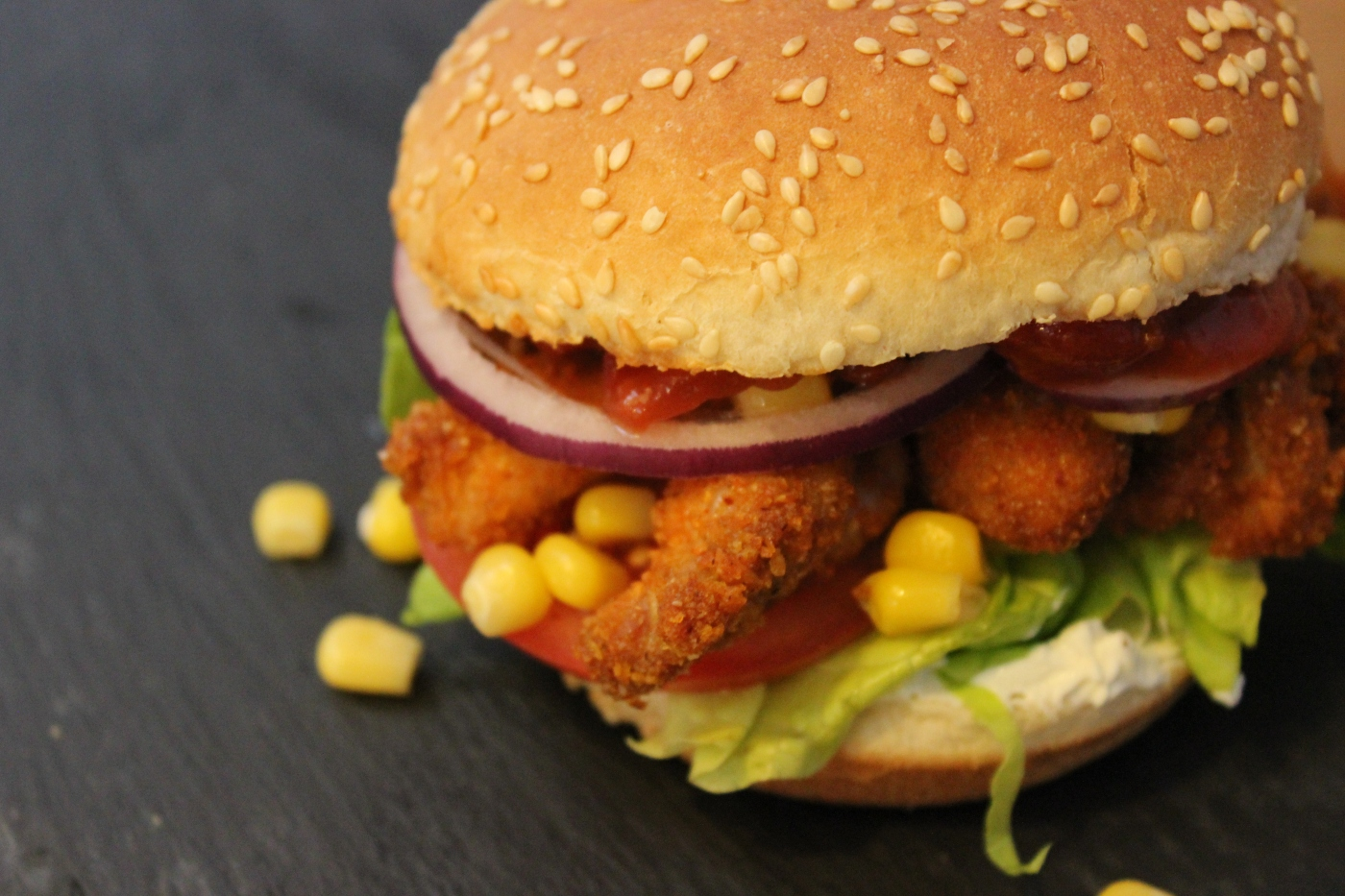 texmex crispy chicken burger